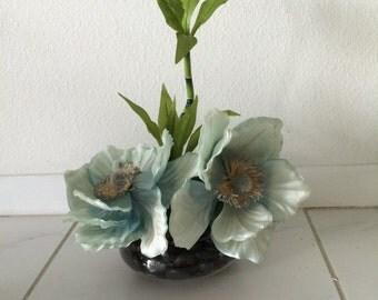 Aqua Morning Blossoms