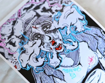 Smoky Eyes Print High Quality Psychedelic 8x11 (20x30cm).