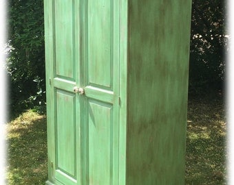 Pistachio Green Hand Painted Wardrobe