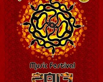 All Good Music Festival poster 2013 (11x17)