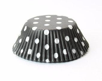 Black & White Polka Dot Cupcake Liners | 25 pcs.
