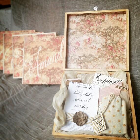 Bridesmaids Proposal Box Contents Wedding Party Gift Asking