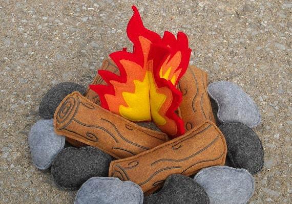 Felt Campfire by MaddyRoseCottage
