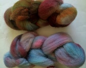 Hand Dyed Cheviot for Spinning or Felting 2 Ounces, 56.7 Grams - Monster Spawn Roving