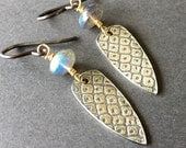 SALE Dragon Scales, Labradorite, Fine Silver, 14k Gold Fill, Oxidized Sterling Silver, Mixed Metals Earrings, erinelizabeth