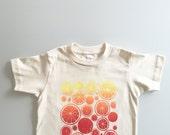 Summer Citrus Kids Tee - oranges, lemons, grapefruit (t2 / 2T)