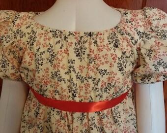 Regency Dress for Girls, Size 6-7, Ready to Ship