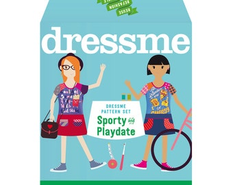 Dressme Pattern Set - Sporty & Playdate Dresses - Sizes 6+–14