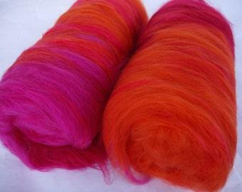 Super soft merino silk spinning batts, nuno felting fiber, needle felting wool, felting fiber, carded wool, batt, batting, 3.5oz/100g