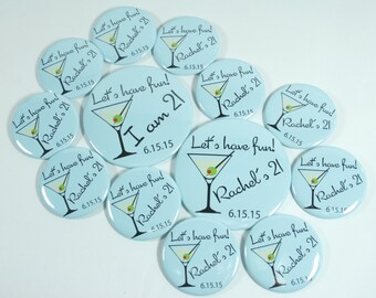 Custom Birthday Buttons, Personalized Button Pins, 30th Birthday Button, 21st Birthday Buttons