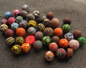 FINAL CLEARANCE - Set of 42 Colorful Handmade Polymer Clay Beads