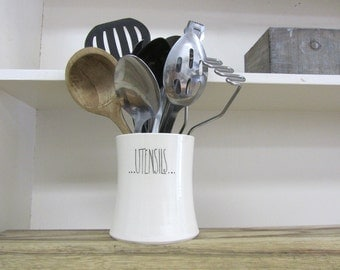 MADE TO ORDER ~ Dotted Kitchen Utensil Holder