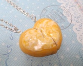 Best Friend Cheese Pizza Necklace Set: BFF Jewelry, Polymer Clay, Best Friend Necklace, Miniature Food Jewelry