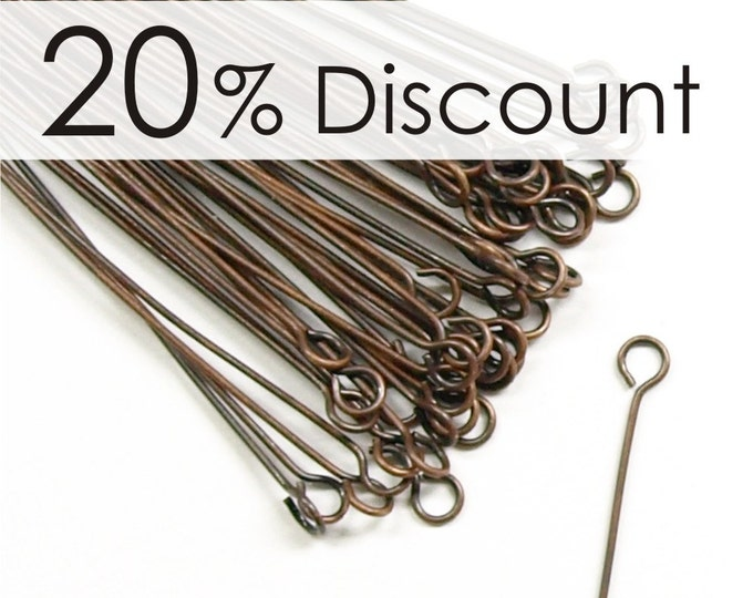 EPBAC-5024 - Eye Pin, 2 in/24 ga, Antique Copper - 250 Pieces (5pk)