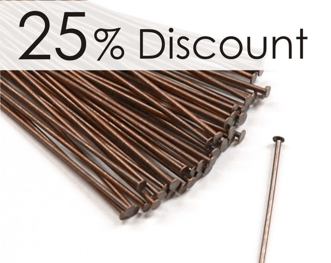 HPBAC-5021 - Head Pin, 2 in/21 ga, Antique Copper - 500 Pieces (10pk)
