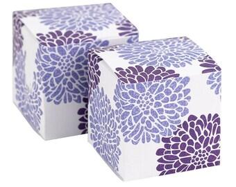 Lilac Favor Boxes - Purple Favor Boxes - Floral Favor Boxes