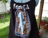 Jethro Tull Living With the Past 2003 Tour Upcycled Women's Tank Top T-shirt OOAK Shirt Summer Shirt, Festival  Halter Top, hippie clothes
