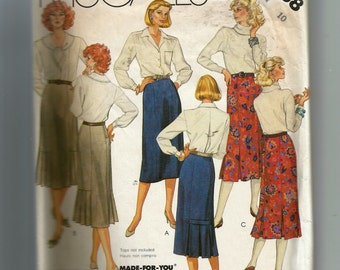 McCall's Misses' Skirts Pattern 2638