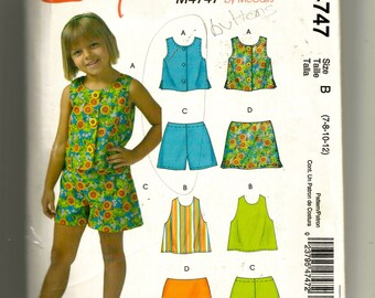 McCall's Girls' Tops, Shorts, and Skort Pattern M4747
