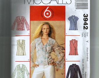 McCall's Misses' Tops Pattern 3942