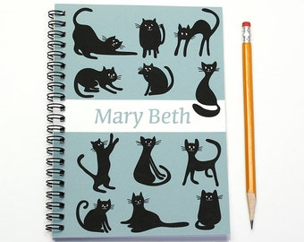 Personalized 2016 Calendar Notebook for a Cat Lover, 2016 Monthly Planner, Custom Journal, Cat Lover Gift Idea, Diary Notebook, SKU: pn cat