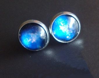 Starry Night Sky Post Earrings - Stainless Steel Posts Studs