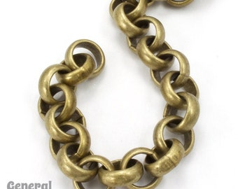 11mm Antique Brass Rolo Chain #CC230