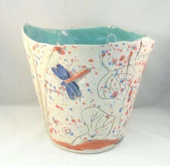 Large Ceramic Planter Decorative Flower Or Herb Pot Extra