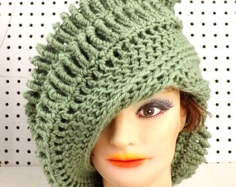 Light Sage Green Crochet Hat Womens Hat,  Womens Crochet Hat,  Crochet Hat,  Crochet Beanie Hat,  Sage Green Hat,  Royal Beanie Hat