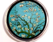Vincent Van Gogh Almond Blossoms Pill Box case Pillbox Fine Art Impressionist Painting Painter Starry Night Dutch Holds Vitamins