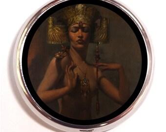 Mata Hari Pill Box case Pillbox Exotic Belly Dancer Art Deco WWI Spy Courtesan Belly Dancing Gypsy Boho Bohemian Parisian