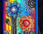 POP ART Flowers Mixed Media Original by bluemoose