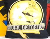 Social Distortion Throw Pillow  12x16