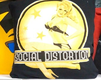 Social Distortion Throw Pillow  12x16