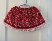 Clearance Sale Christmas Ornament Print Bandana Skirt ONE SIZE FITS 12 months to 3T