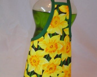 Narcissus Yellow  Flower Happy Summer Dish Soap Apron Bottle Cover Wrap Staffer Party Favor Lg