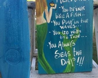Blond mermaid in RhondaK's otiginal signs you're s mermaid series