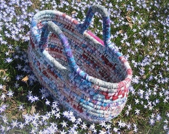 WARM WATERS textile art  BASKET Tote Bag