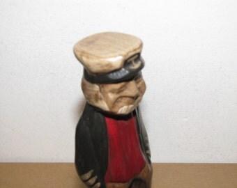 Vintage Ceramic Fisherman, Ship Captain Figure, Made in Mexico