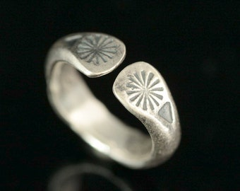 KY-021 thai karen hill tribe handmade silver ring