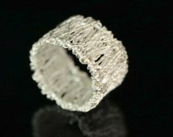 KY-027 thai karen hill tribe handmade silver ring