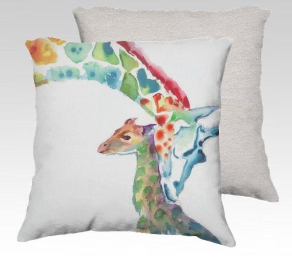 Animal Pillows For Nursery : Giraffe Pillow Giraffe Cushion Gifts for by StudioEmmaKaufmann
