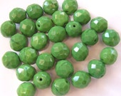 Czech Fire-polished Glass Faceted Round Beads - Destash
