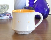 Orange Mug with Dots - SHOP SALE - Ceramic Mug with Orange Accents