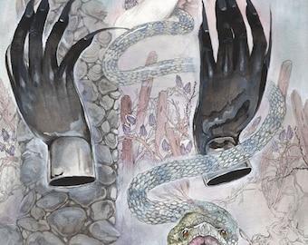 Dark Pillar - Magical / Fantasy Art Print