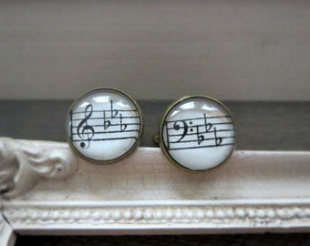 Vintage Music Sheet Cufflinks