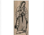 Rubber stamp Our Lady of Guadalupe  Catholic  stamping religious   scrapbooking supplies 10613