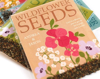 25 Grow Together Wildflower Seed Packet Wedding Favors