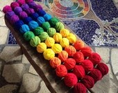 pure wool 25gm balls individual rainbow colours
