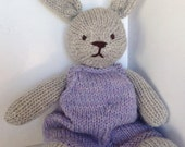 Natural handknit Bunny Heirloom Toy